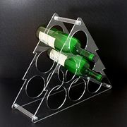 Acrylic collapsible KD red wine and champagne bottle display rack with flat package from Dalco H.J. Co Ltd