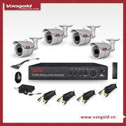 "China 4CH 960H Camera CCTV System, 1/3"" CMOS 700TVL 960H, 4pcs CCTV Camera, 960H DVR, with full accessory"