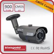 """China 1/3"""" CMOS 900TVL Bullet Security Camera, 24pcs IR LED, IR Distance 20 Meters, IP66 Water-proof"""