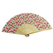 Cotton cloth bamboo hand fans from China (mainland)
