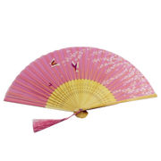 Silk bamboo hand fans from China (mainland)