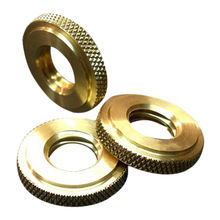 CNC machining round knurled nuts from Hong Kong SAR