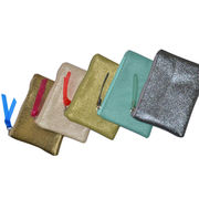 Metallic material PU Cosmetic bag from China (mainland)