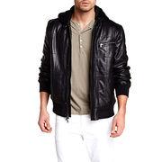 Leather Hooded Bomber Jackets Manufacturer