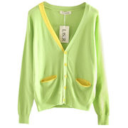 Girl's cotton knitted cardigan for spring and autumn seasons, in Pantone color number to customize from Meimei Fashion Garment Co. Ltd