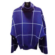 New autumn and winter, fashion for women turtleneck, knitted wool checked sweater from Meimei Fashion Garment Co. Ltd