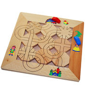 China 2015 top end children's magnetic maze wooden toys