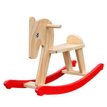 2015 funny play wooden rocking horse toy