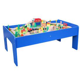 2015 wooden railway train set toy Manufacturer
