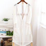New fashion long hollow out thin knit cardigan for women from Meimei Fashion Garment Co. Ltd