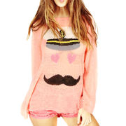 New fashion thin moustache loose sweet knitted sweater for girl from Meimei Fashion Garment Co. Ltd