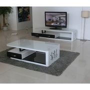 China Suply Modern Gl Coffee Tables Unique Mdf End Tv Cabinet Set Wooden Tea Table