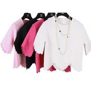 New fashion women's jacquard waved sweater, contain matching knit dress from Meimei Fashion Garment Co. Ltd