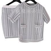 Knitted twin set from Hong Kong SAR