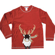 Boys' cotton long-sleeved T-shirts from China (mainland)