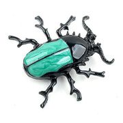 Unique Enamel Beetle Brooches from China (mainland)