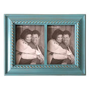 China Wood collage photo frame, double openings