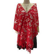 Ladies red/glitter scarf from Hangzhou Willing Textile Co. Ltd