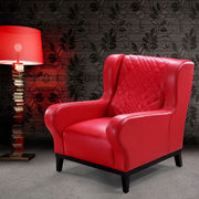 Red Antique Leather Sofa Chair from China (mainland)