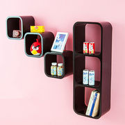 2015 Square Style MDF Wooden Cube Wall Shelves Manufacturer