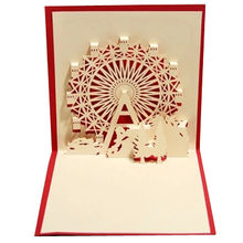 Greeting cards wholesalegreeting cards wholesalers global sources wholesale laser cutting ferris wheel pop up greeting cards laser cutting ferris m4hsunfo