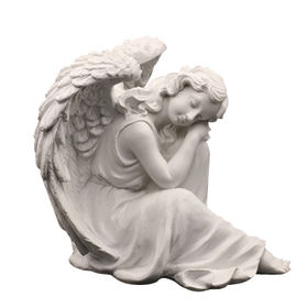 Polyresin White Angel Figurines from China (mainland)