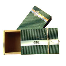China Green Kraft Corrugated Sliding Gift Boxes