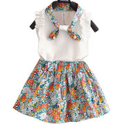 Girls' sleeveless dresses,cute model,soft and comfortable,MOQ is 100pcs,300pcs is wholesale price