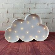 Marquee metal cloud light