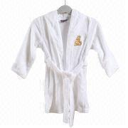China Kid's terry robes with embroidery, 100% cotton