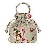 Drawstring canvas handbag from China (mainland)