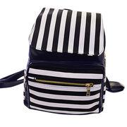 Hong Kong SAR Los bolsos de los niños, bolsillo con cremallera blanco y negro de la raya en el bolso delantero, modificado para requisitos particulares aceptado