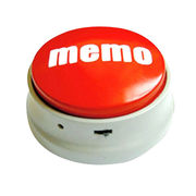 China Sound button, made of ABS, message can be recorded, different colors available