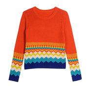Lady's jacquard pattern design pullover