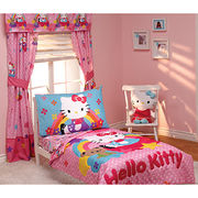 Cute Kitty Window Panel and Window Valance Manufacturer