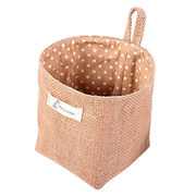 Vintage Jute Eco-friendly Tote Storage Basket from China (mainland)