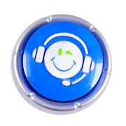 China Sound Button, made of ABS, voice can be recorded, customized logo accepted