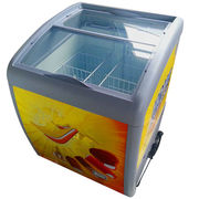 Curved bread glass door chest freezer from China (mainland)