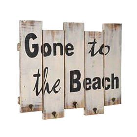 China Beach's day shabby style chic wood plaque
