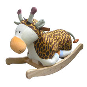 2015 stuffed plush wooden rocking animal toy from China (mainland)