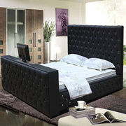 High headboard leather bed Manufacturer