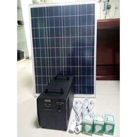 China 300-600W portable solar home system kits for DC light, DC fans, cell phone charge, small AC/LCD/TV