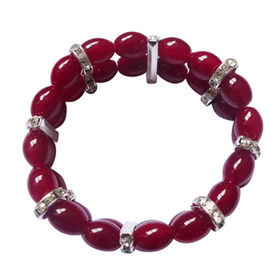 Eye-catching Red Glass Beaded Bracelets Manufacturer
