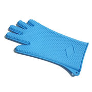 heat resistant silicone extra long bbq grill glove from China (mainland)