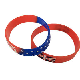Section color silicone bracelets from China (mainland)