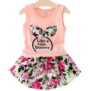 Hong Kong SAR Girls' cotton suits,fashion model/soft & comfortable/accept small order/300pcs for wholesale price