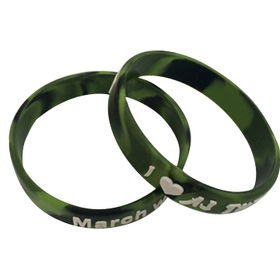 Drop rubber logo silicone bracelets from China (mainland)