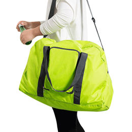 Nylon like material foldable travel duffel bag from China (mainland)
