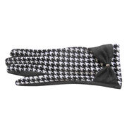 Ladies' Houndstooth Elasticated Gloves from China (mainland)