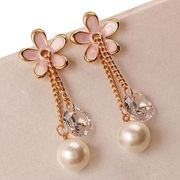 Crystal Pearl Drop Earrings from China (mainland)